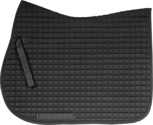 Horze River AP saddle pad black with matching binding