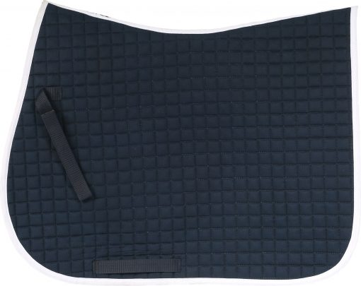 Horze River AP saddle pad, Peacock Dark Blue with white binding