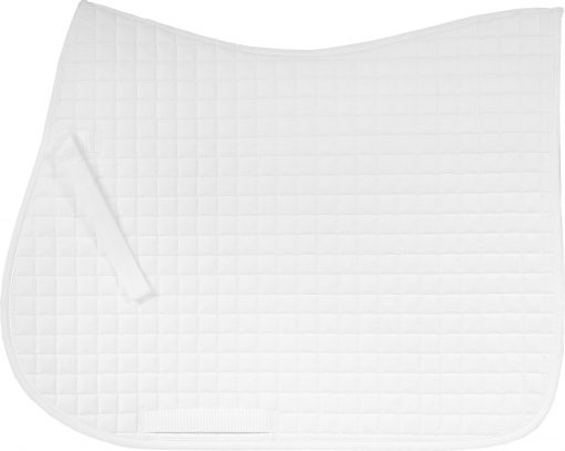 Horze River AP saddle pad, white with white binding