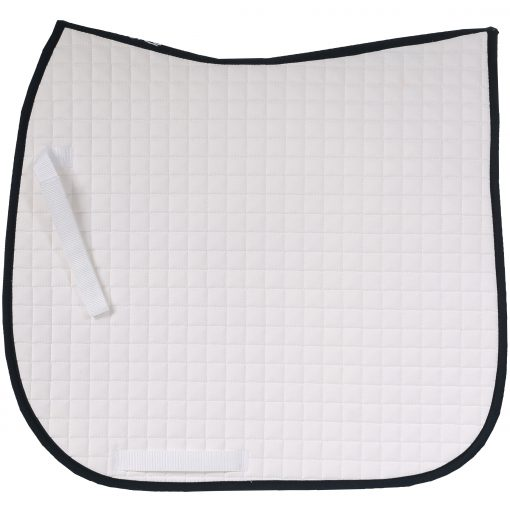 Horze River AP Saddle pad white with dark blue trim