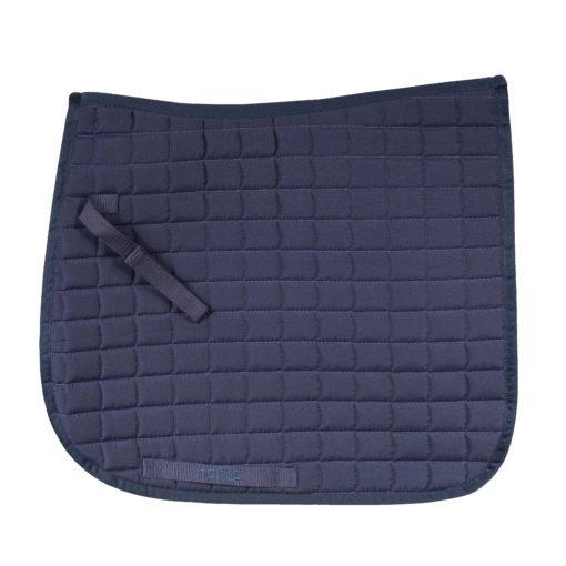 Horze Bristol VS dressage saddle pad in peacock navy blue
