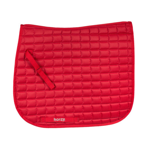 Horze Bristol VS dressage saddle pad in red