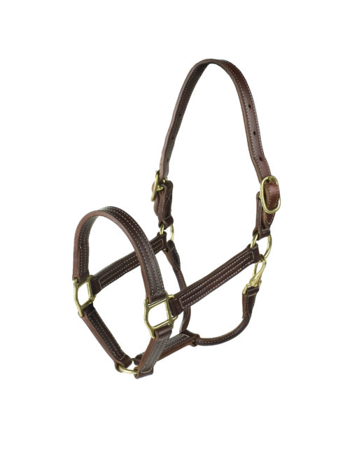 FinnTack American Quality Leather Halter in dark brown
