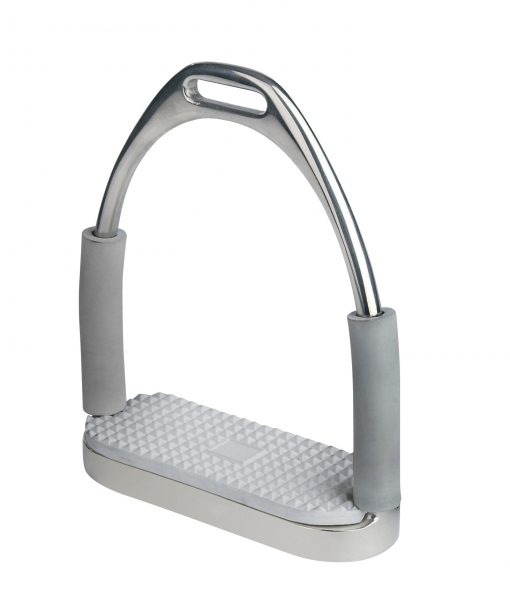 Centaur Flex Side Stirrup Irons in silver