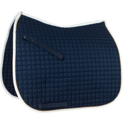 Horze River Dressage saddle pad in dark blue with white trim