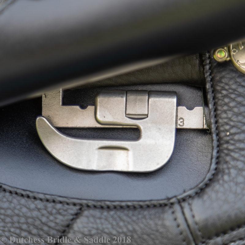 Bates Dressage+ Saddle with adjustable ergonomic stirrup bar