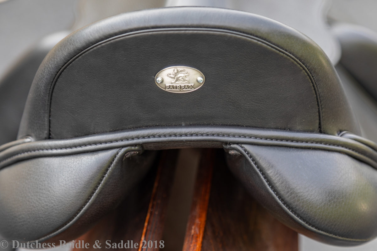 Fairfax Gareth Monoflap dressage saddle cantle view