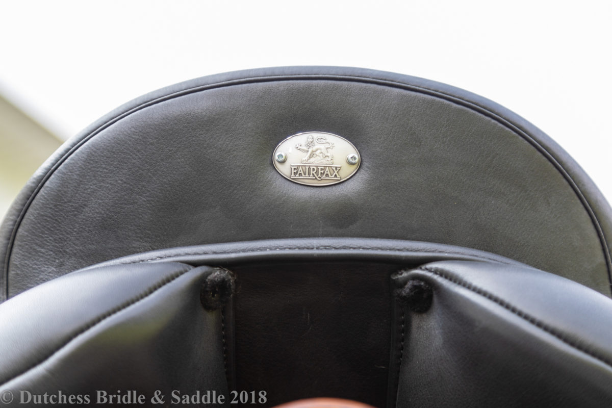 Fairfax Spencer Monoflap Dressage Saddle cantle