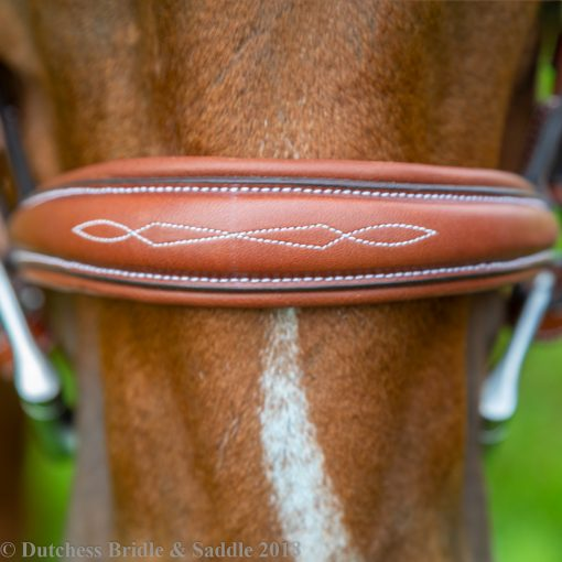 Pessoa PRO Fancy Stitched Tapered Bridle noseband