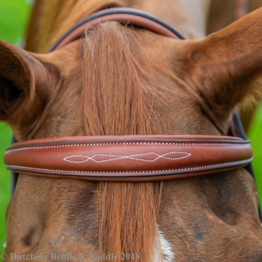 Pessoa PRO Fancy Stitched Tapered Bridle browband