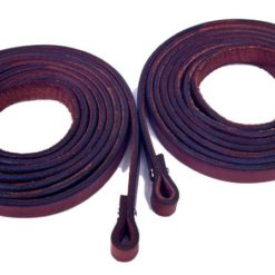 "Fabtron Chestnut Leather 5/8"" Split Reins"
