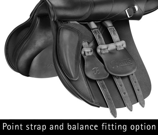 Bates All Purpose+ saddle with point strap and balance fitting