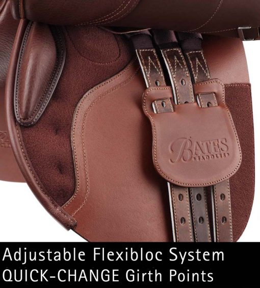 Bates Caprilli CC+ forward flap with adjustable flexibloc system and quick-change girthpoints