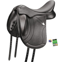 Bates Innova Mono+ dressage saddle in classic black
