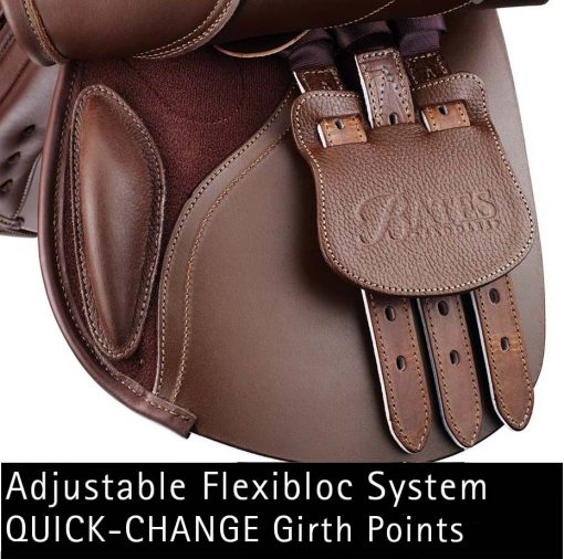 Bates Pony Elevation+ with adjustable flexibloc system and quick-change girth points