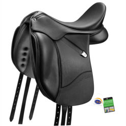 Bates Isabell+ Dressage saddle in classic black