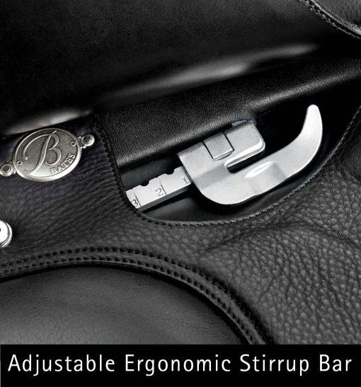 Bates Isabell Dressage saddle with adjustable ergonomic stirrup bars