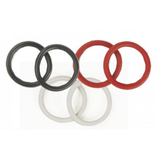 Replacement rubber peacock rings