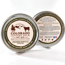 Natural tallow leather balm with orange-vanilla scent